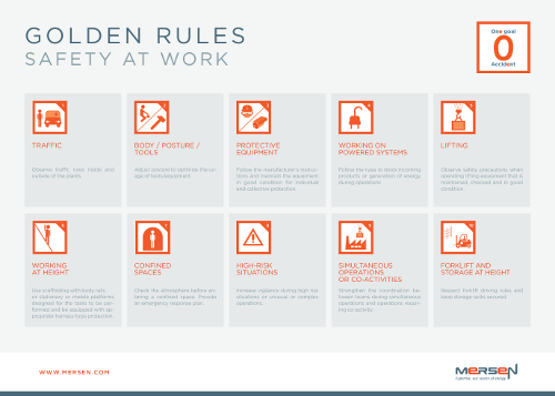 Safety golden rules Mersen
